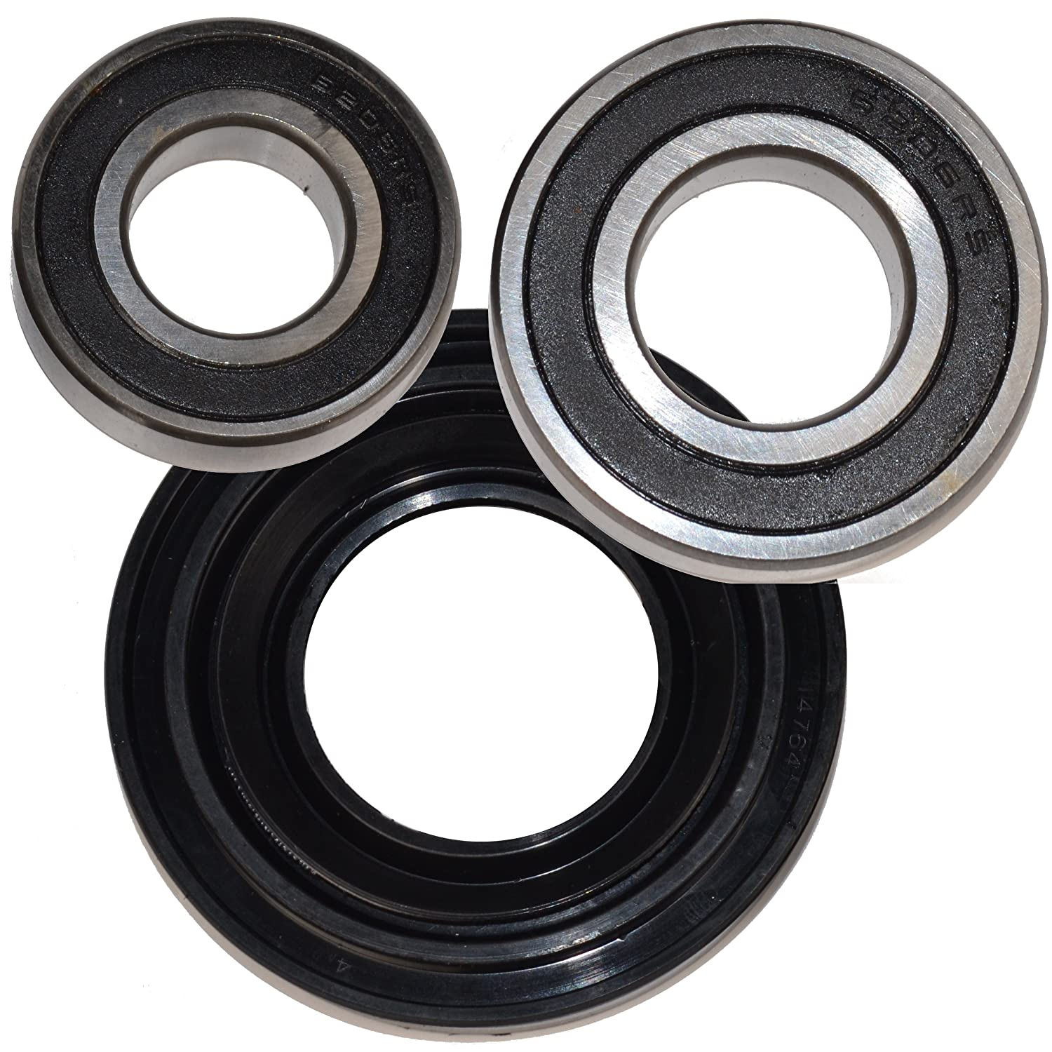 HQRP Bearing and Seal Kit for Whirlpool Duet Sport AP3970398 CHW9900VQ0 CHW9900VQ1 MWFW8300SW01 MWFW8300SW02 WFW8200TW00 WFW8300SW05 WFW9050XW01 Front Load Washer Tub + HQRP Coaster
