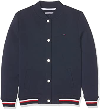 d748d8ac Tommy Hilfiger Girls Double Faced HWK Bomber L/S Cardigan, Blue (Navy  Blazer 431), 16 Years: Amazon.co.uk: Clothing