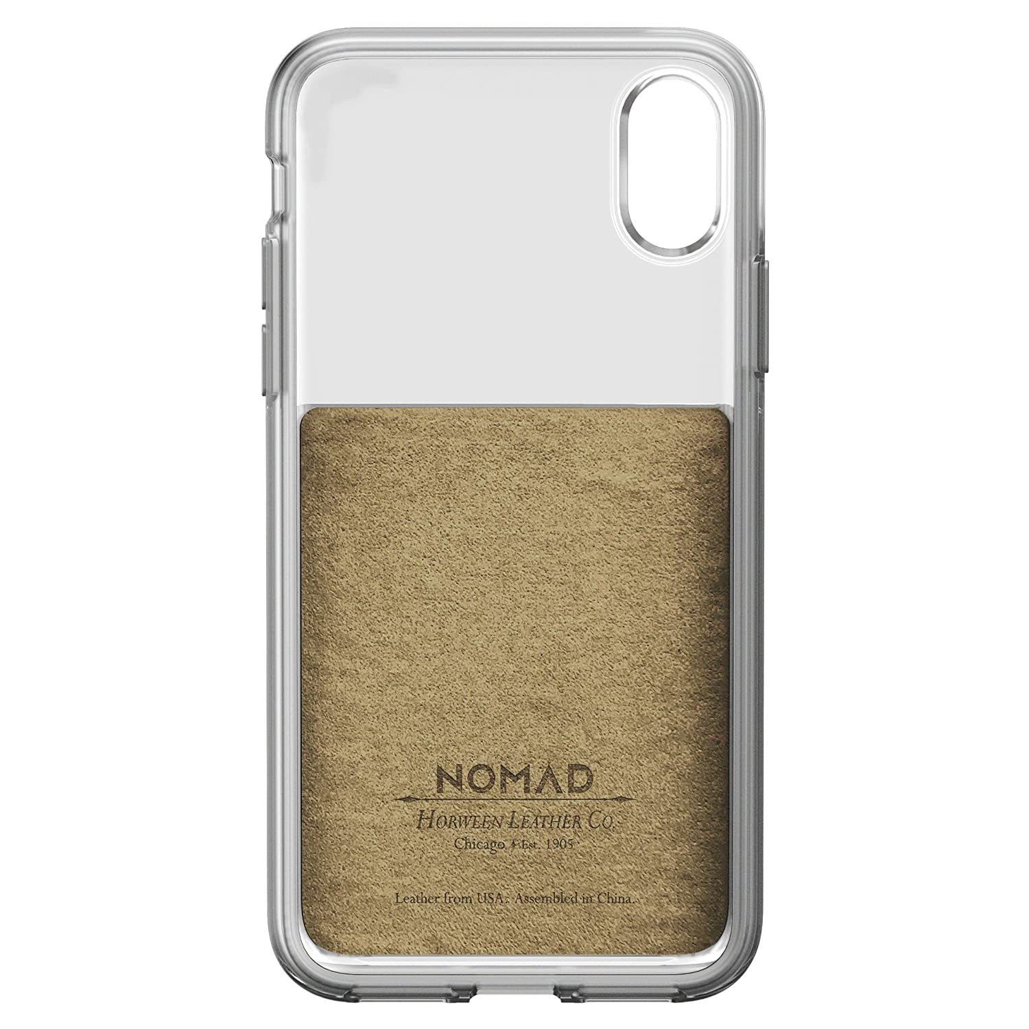 the latest 0f261 fb201 Nomad Clear Case iPhone X Brown