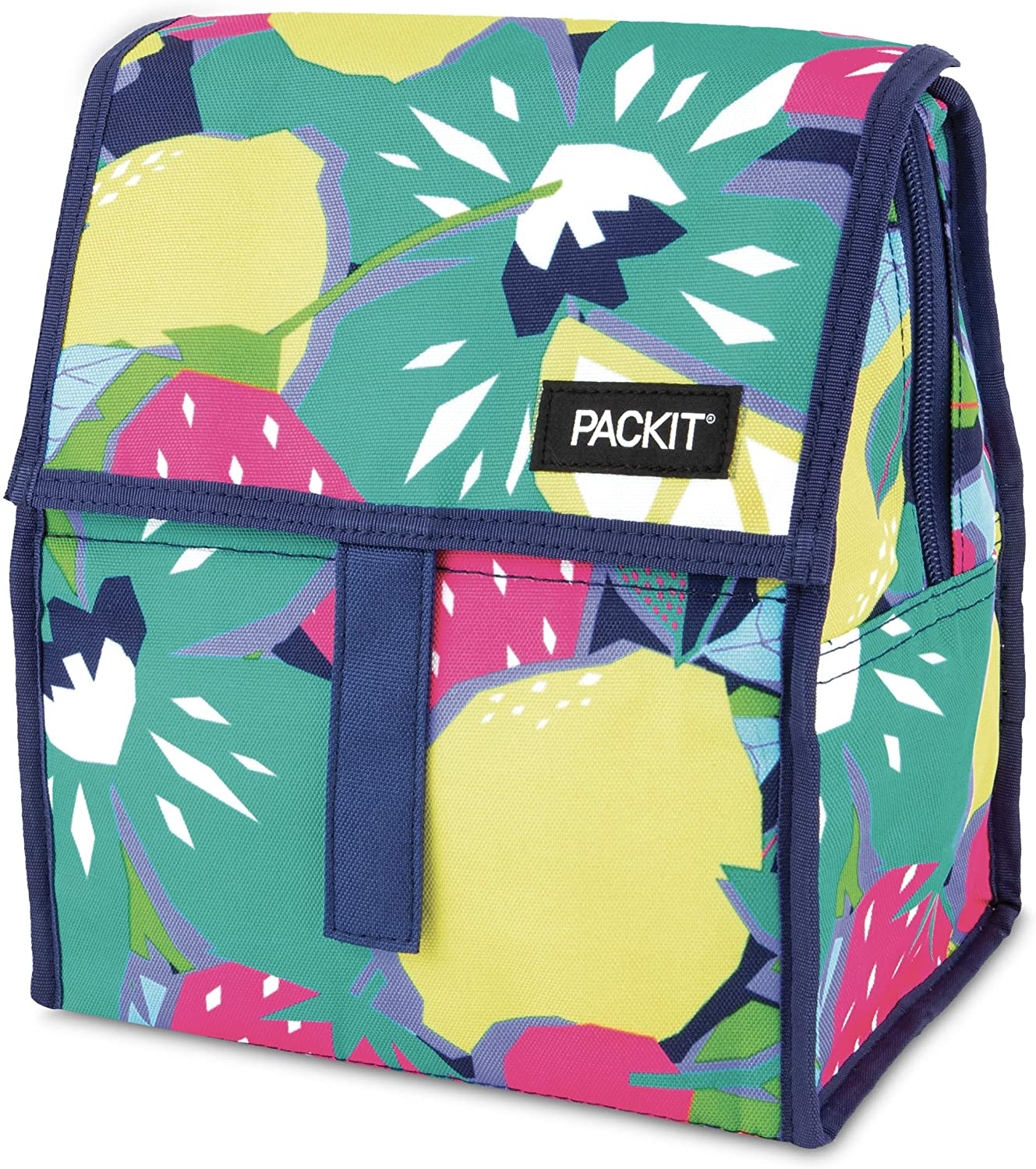 PackIt Freezable Lunch Bag with Zip Closure, Fruitopia