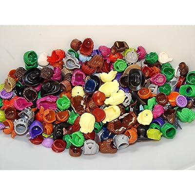 LEGO Authentic Minifigure Helmets Hair Hats Great Random Lot of 15: Toys & Games