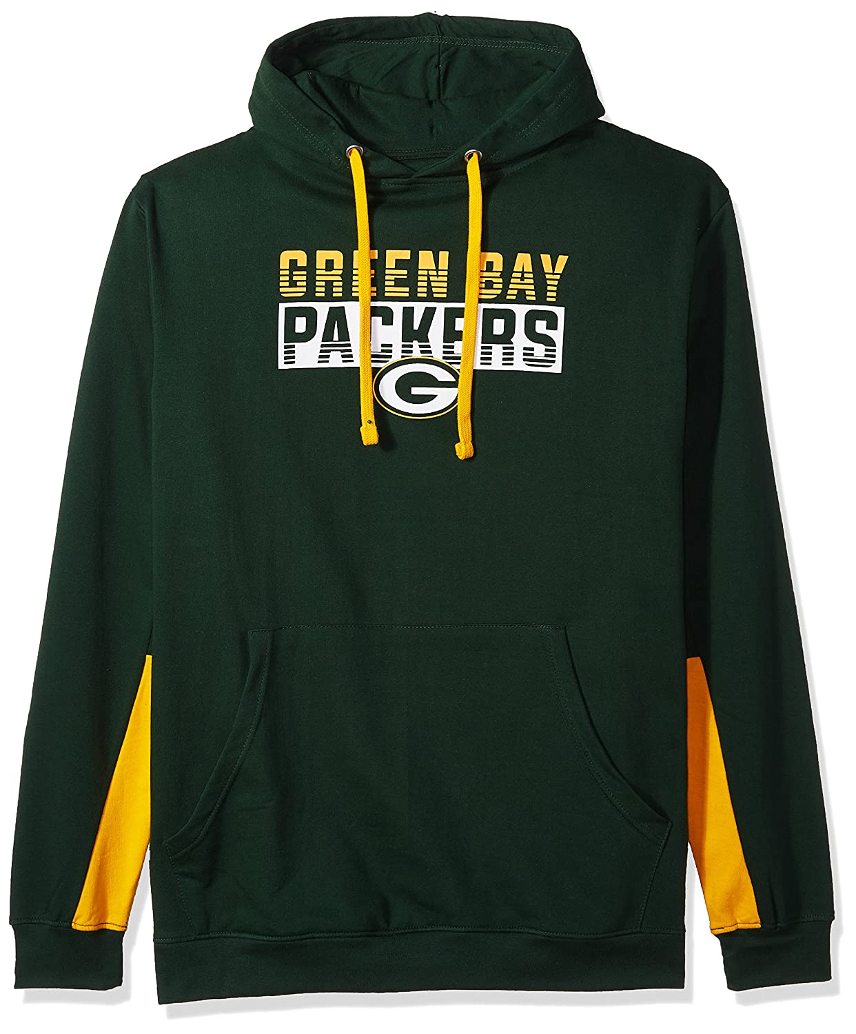 NFLメンズパッカーズプルオーバーパーカー B0752V7H7T 5X|Dark Green/Gold|Green Bay Packers Dark Green/Gold 5X
