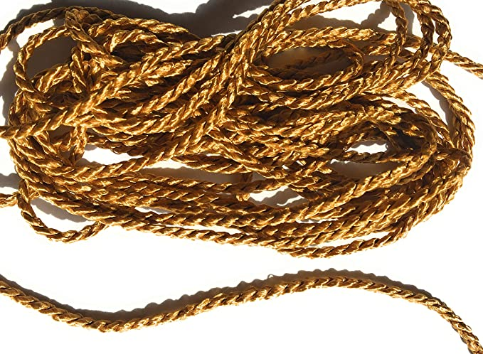 Cotton White Cord Twisted Trims 3mm Twisted Rope 10 Yards