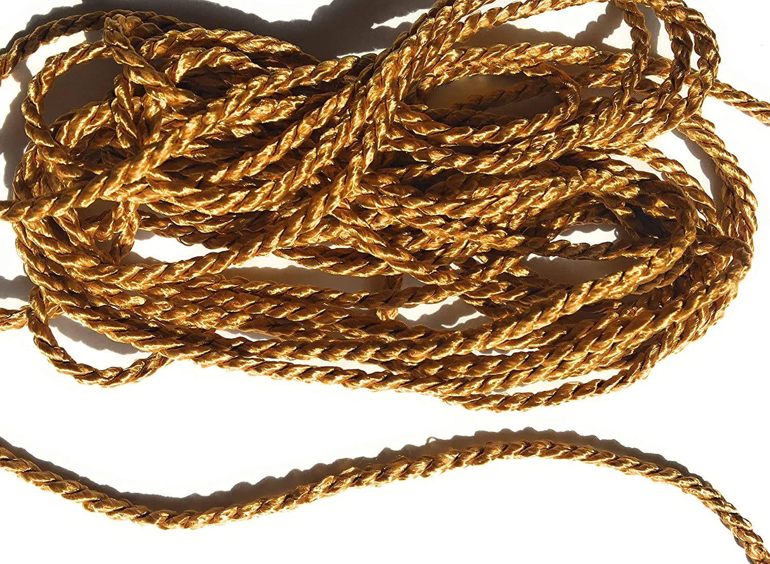 Gold Cord Twisted Trims 1/8