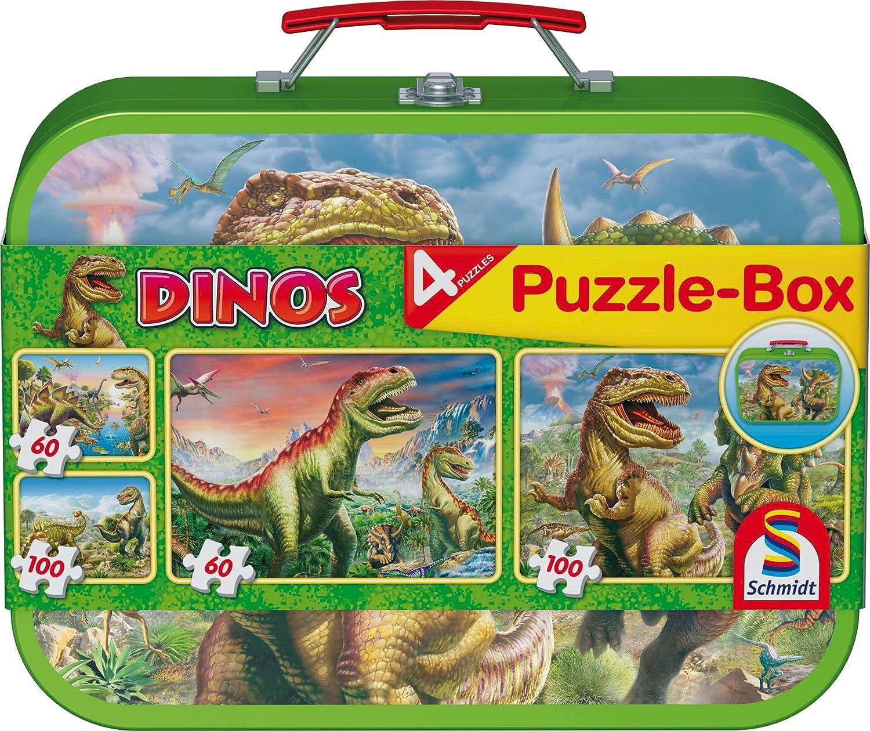 Schmidt Spiele Puzzle 56192 100 Teile blau Im Im Reich der Dinosaurier