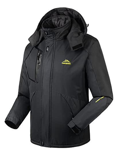 b2ab849d66a7 4HOW Ski Snow Jacket Waterproof with Hood Winter Sport Coats for Men Rain  Jackets M Black