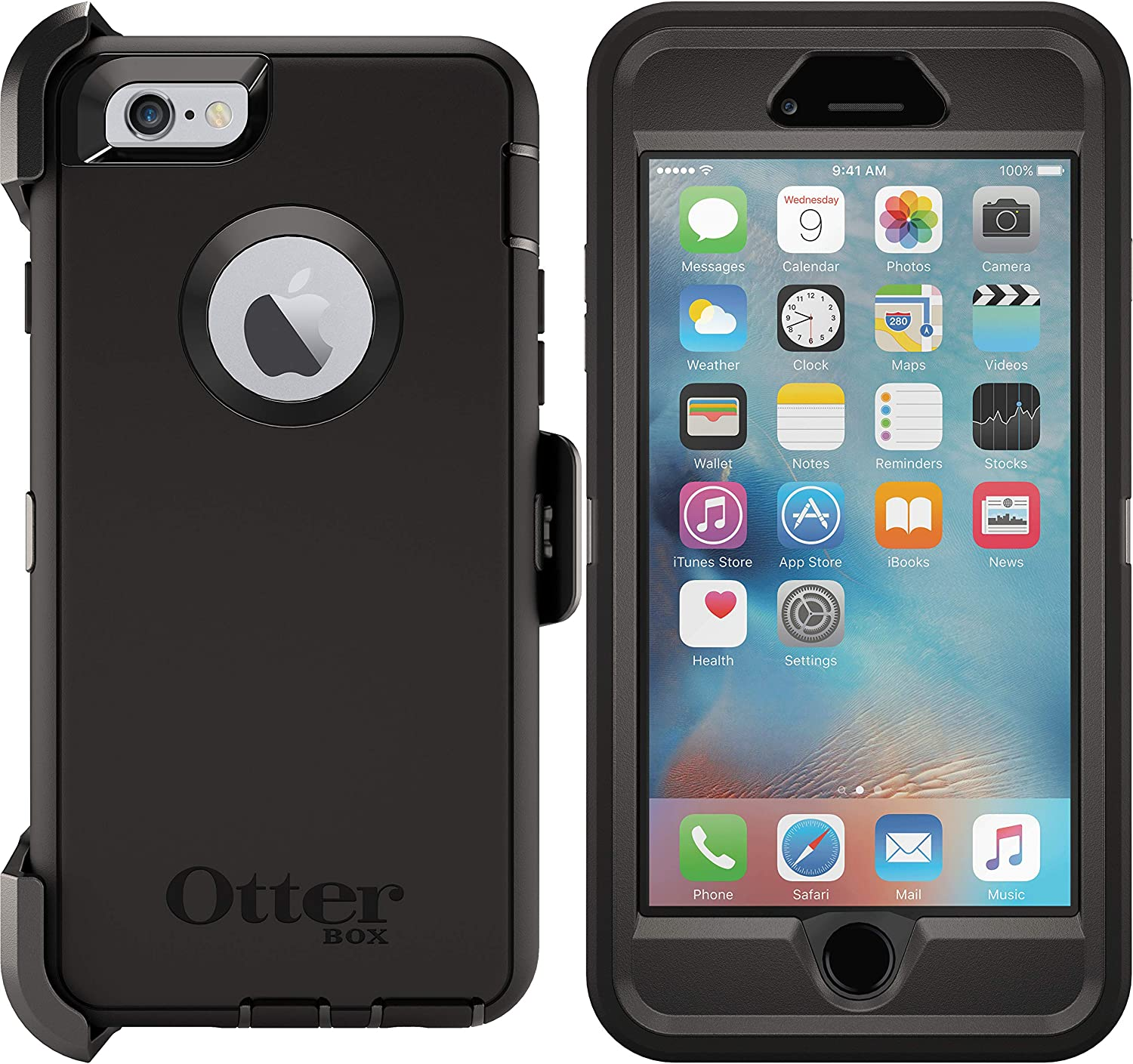 OtterBox Defender Series Case for iPhone 6s & iPhone 6 (NOT Plus) Non-Retail Packaging - Black