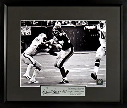 47fd75ba0 Pittsburgh Steelers Franco Harris quot Immaculate Reception quot  11x14  Photograph (SGA Signature Engraved Plate Series