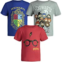 HARRY POTTER Camisetas de Manga Corta para Niño - Pack de 3