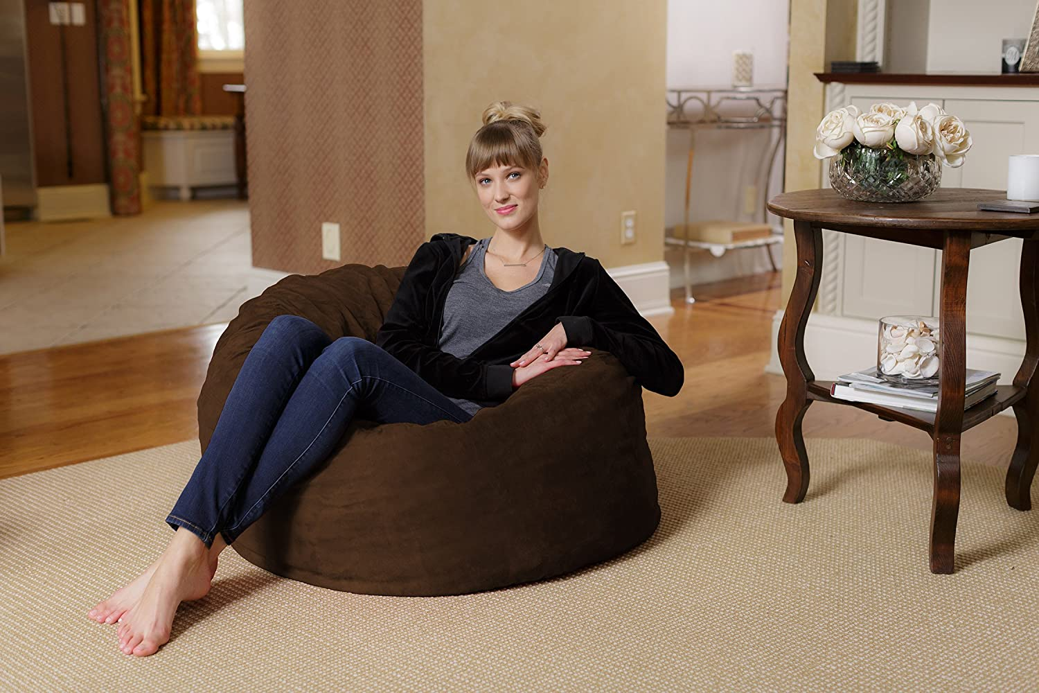 Amazon Chill Sack Bean Bag Chair Large 3 Memory Foam Furniture