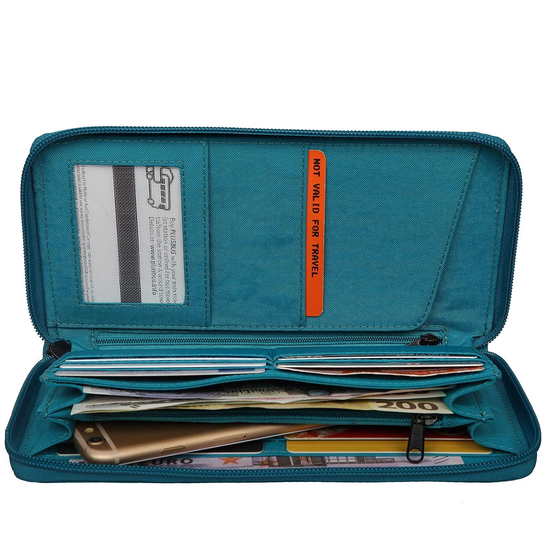 ARTSAC - Zip Round Travel/document Wallet, Carteras Mujer, Azul (Blue), 210x110x30 cm (W x H L): Amazon.es: Zapatos y complementos