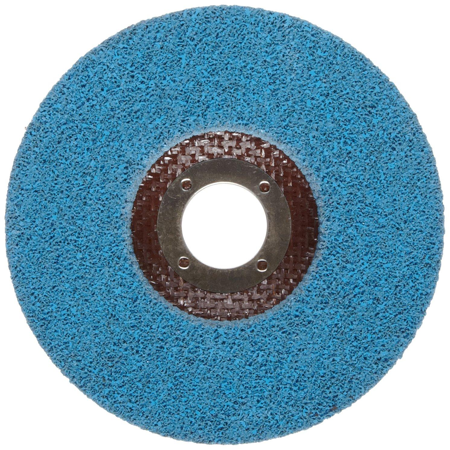 Norton Bear-Tex Depressed Center Vortex Rapid Finish Unified Nonwoven Abrasive Wheel, Type 27, 4-1/2'' Diameter, 7/8'' Arbor, Grit 5AM (Pack of 10)