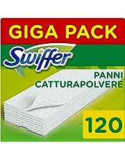 Swiffer Panni di Ricambio per Scopa 120 Pezzi, per Catturare e Intrappolare 3 Volte più Polvere, Sporco e Peli di una Scopa Tradizionale