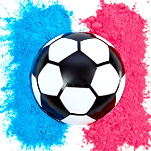 Gender Reveal Soccer Ball | Blue and Pink Powder Kit | Gender Reveal Party Supplies | Ultimate Party Supplies