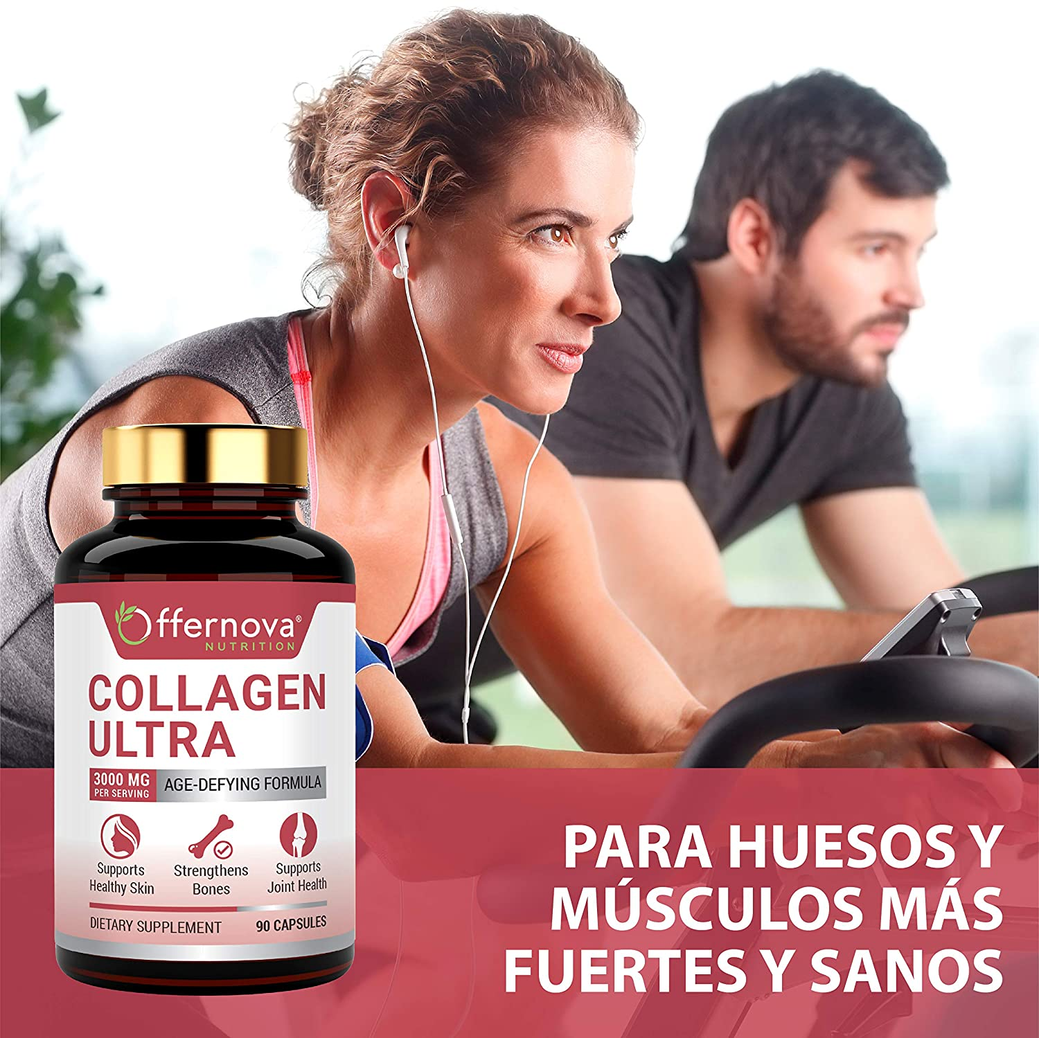 Hydrolyzed Collagen Capsules for Healthy Joints, Bones, Hair & Skin – Anti-Aging Bovine Collagen Peptides Pills for Women and Men – Pastillas de ...