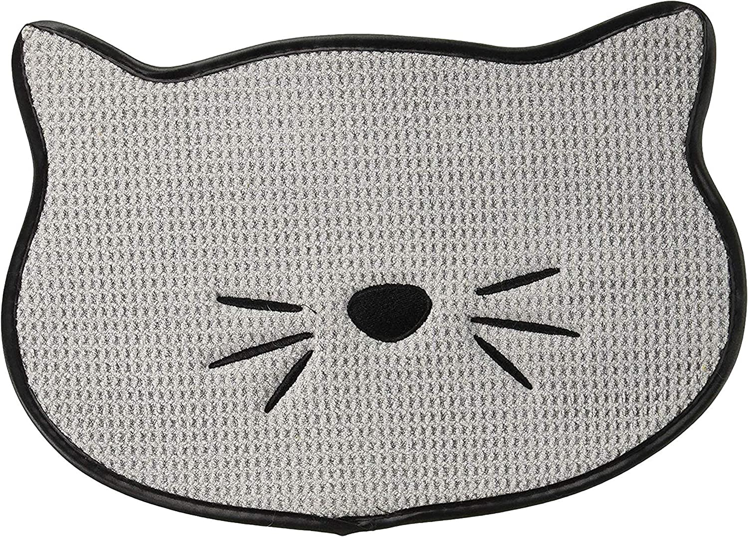 Bone Dry Embroidered Microfiber Cat Shape Pet Food