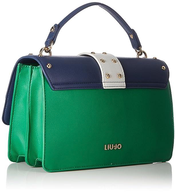 Liu Jo Melrose, Women's Bag, Green (Jelly Green), 19x10.5x27