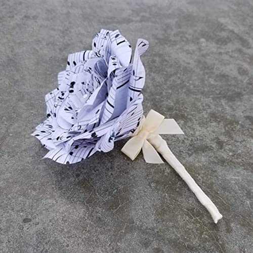 Amazon Music Note Paper Boutonniere Handmade