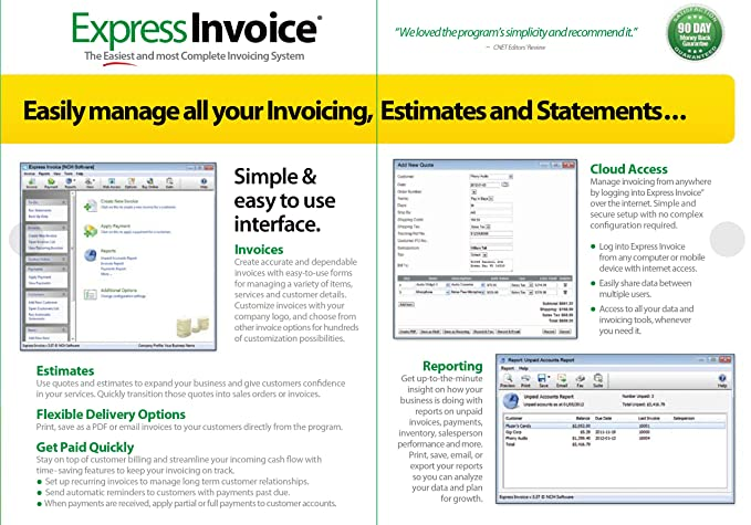 Amazoncom Express Invoice Professional Invoicing Software PCMac - Program to create invoices for service business