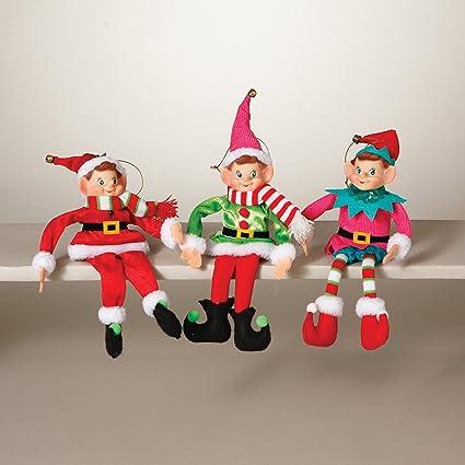 Gerson International Colorful Christmas ELF Ornaments Figurines Bendable  New Set 3 Retro Holiday - Amazon.com: Gerson International Colorful Christmas ELF Ornaments