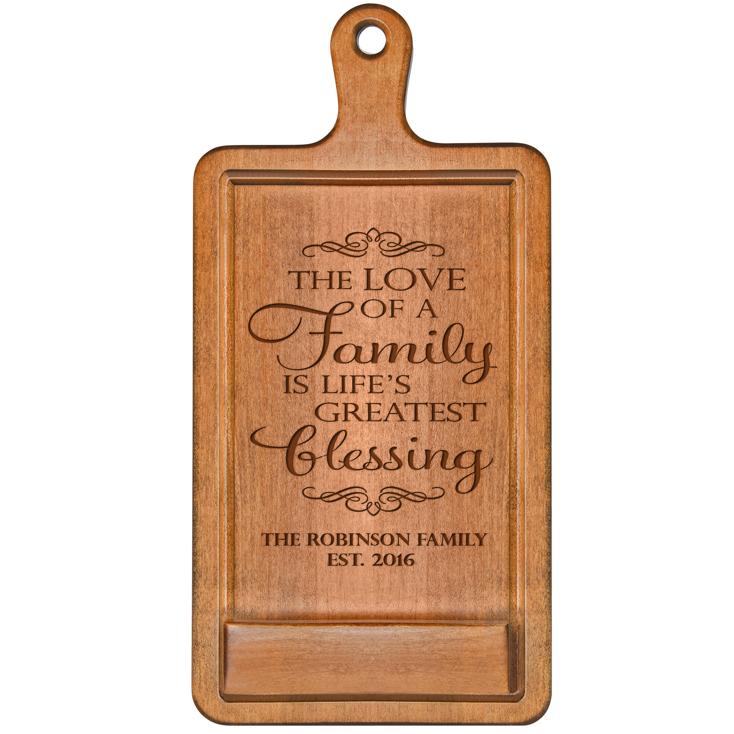 Personalized Cherry iPad Cook book Recipe holder with stand under counter for Kitchen with Family Name and Year Established date The love of a family Wedding Gift ideas for Him Her Couple