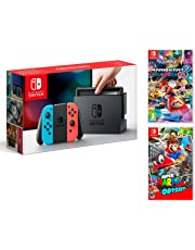 Nintendo Switch 32Gb Neon-Rot/Neon-Blau Pack Mario Kart 8: Deluxe + Super Mario Odyssey