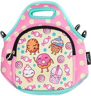 FRINGOO® Kids Lunch Bag Neoprene Children Thermal Insulated Tote Bag  Shoulder Strap Zipped Pocket Cooler 41276ec4afa83