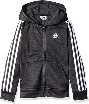 La oficina precoz Puede soportar  Amazon.com: adidas boys Zip Up Hoodie: Clothing