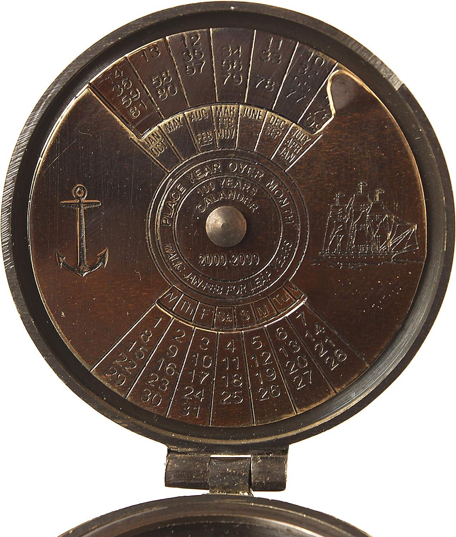 Kelvin Brass Calendar Compass Antique Vintage Compass Brass Nautical Gift Pocket