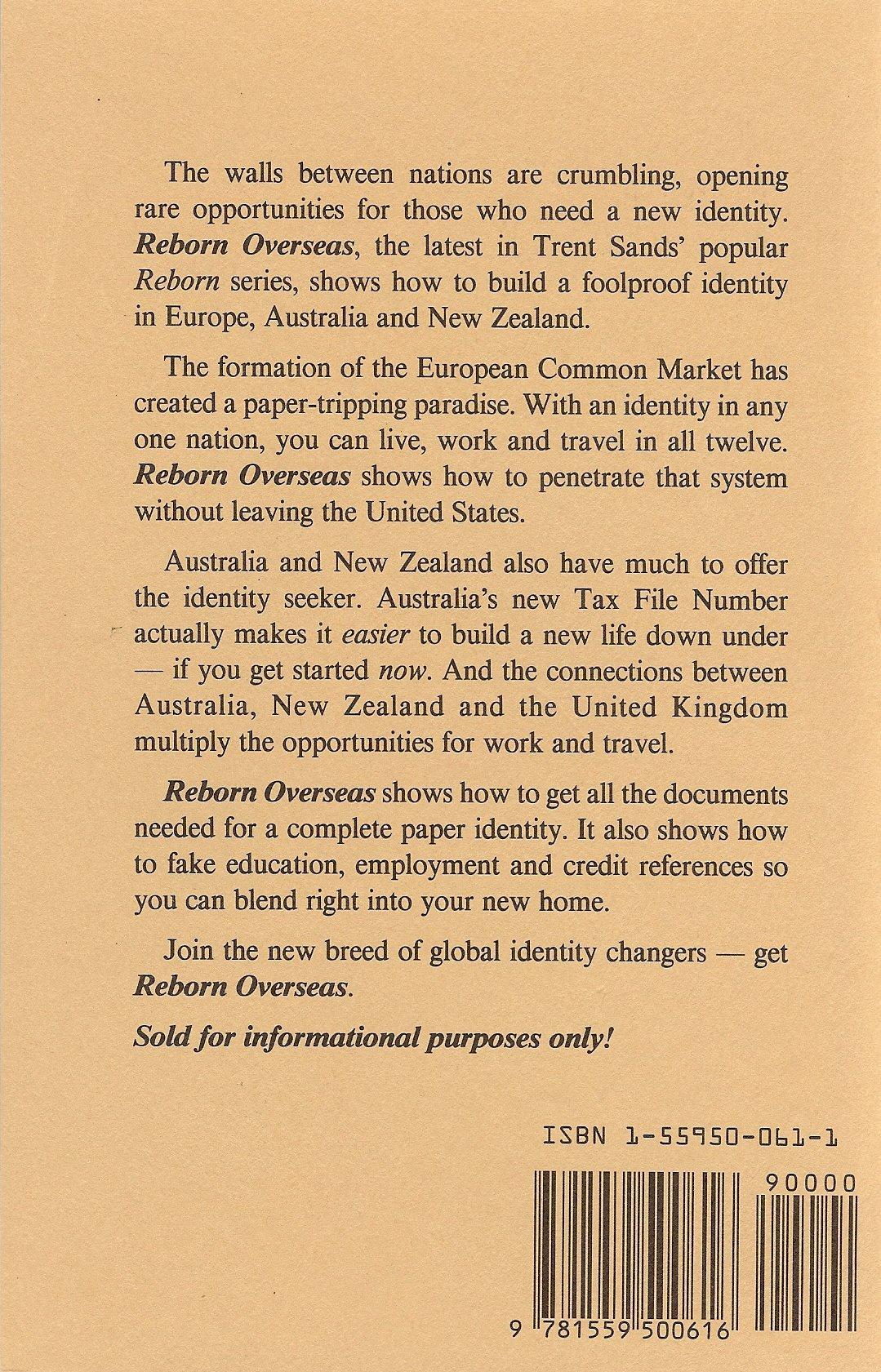 Reborn Overseas  Identity Building In Europe, Australia And New Zealand:  Trent Sands: 9781559500616: Amazon: Books