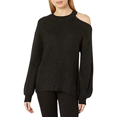 Velvet by Graham & Spencer Women's Adrienne Engineered Lurex Sweater at Women's Clothing store