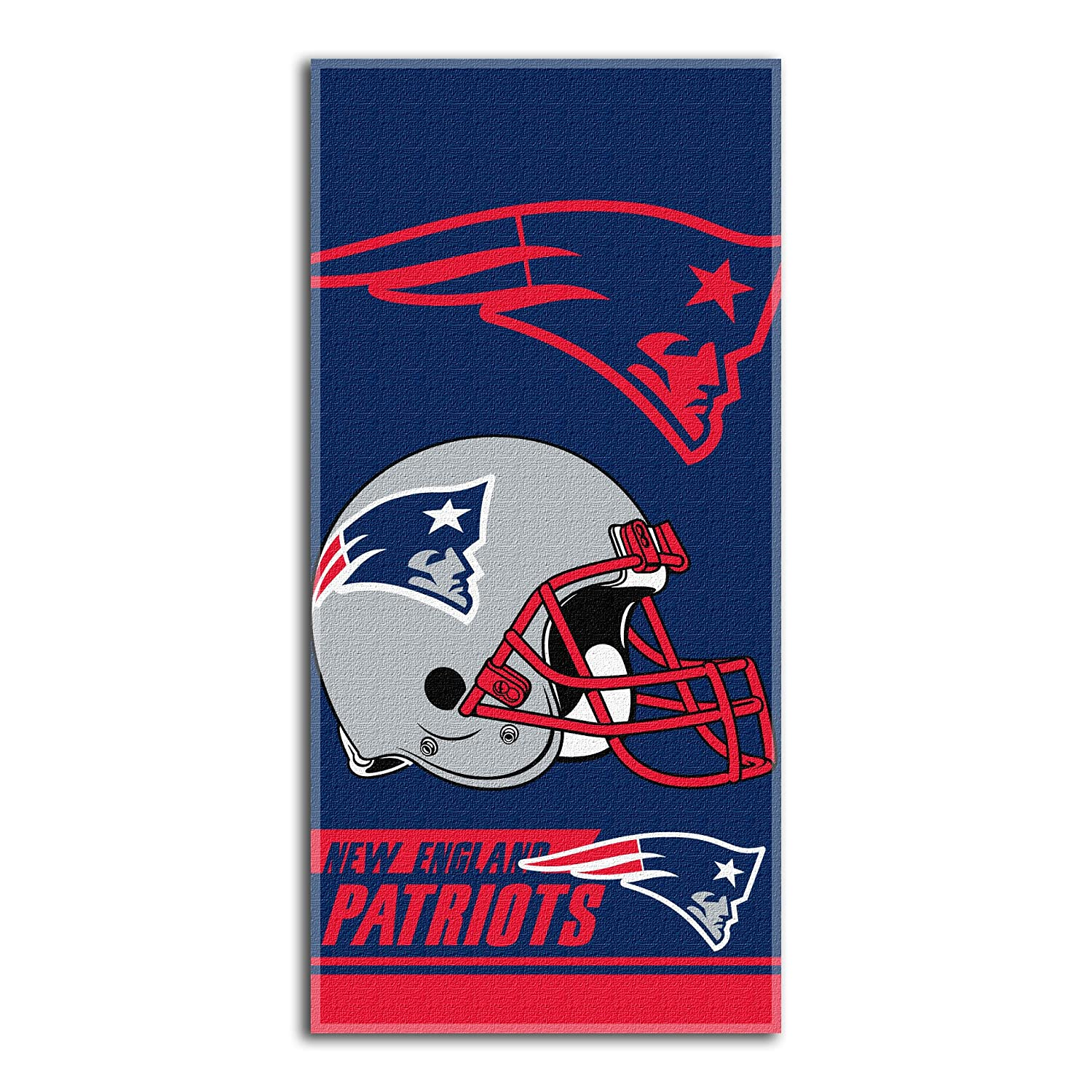 The Northwest Company NFL New England Patriots Double Covered Beach Towel, 28 x 58-Inch