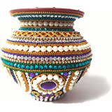 SS Craft Creations Handcrafted Decorative Kalash with Copper Lota for Puja/ Festivals and for Home Decor