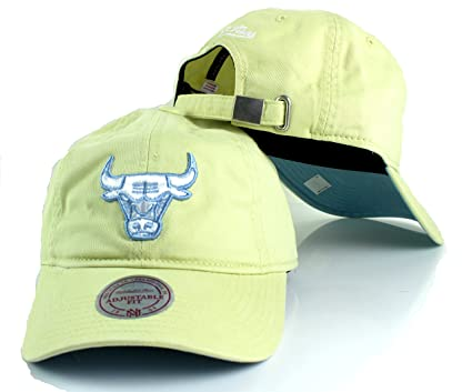 a632f86d Chicago Bulls NBA Mitchell & Ness Khaki Pastel Slouch Strapback Dad Hat  (Blue)