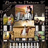 Digital Backgrounds Back to Nature Photo Backdrops plus Sandwich Layered Digital Studio Photo Props 1Q2