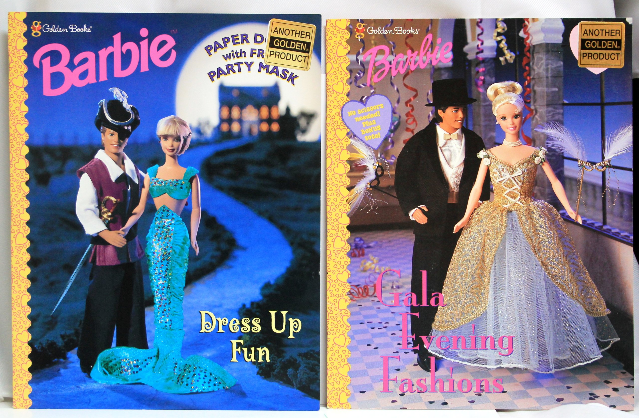 Golden Books Ken & Barbie Paper Doll Collection - Dress Up Costume ...
