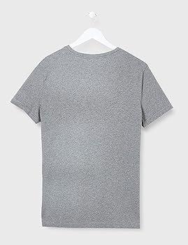 Calvin Klein Stacked Logo W Stripe Slim tee Camisa, Mid Grey Heather, S para Hombre: Amazon.es: Ropa y accesorios