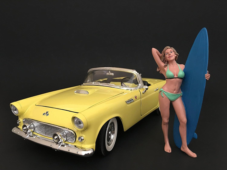 American Diorama–77440–Figur Surfer Paris–Echelle 1/18–Schwarz/Weiß