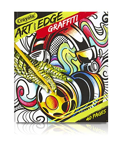 Amazon Com Crayola Art With Edge Graffiti Adult Coloring Book