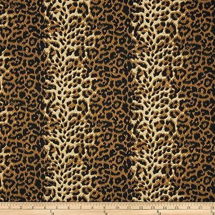 Amazon.com  Carr Textile Poly Cotton Twill Leopard Print Brown Cream a01a69361