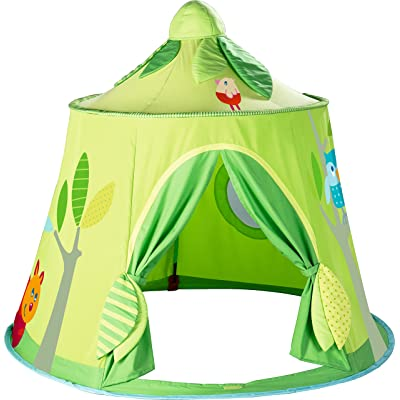 HABA Magic Forest Play Tent - Free-Standing Fabric Hut with Mesh Window and Door for Ages 18 Months and Up: Toys & Games