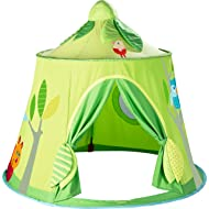 HABA Magic Forest Play Tent - Free Standing Fabric Hut with Mesh Window and Door for Ages 18 Months +