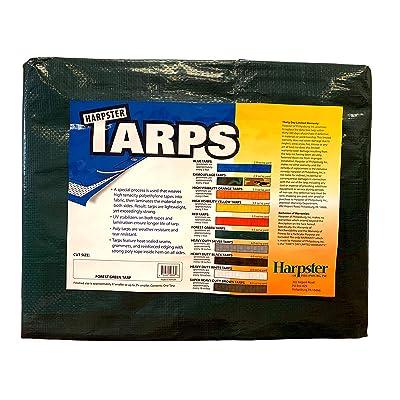 Forest Green Tarp 4.5 OZ., 10'x10' - Tarps Direct - .com