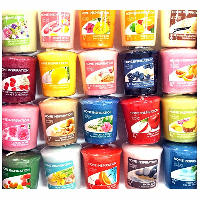 12x Home Inspiration officiel Yankee Candle Bougies Votives Bougies Rare assorties Parfums