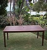 Cambridge-Casual 868320 Como Rectangular Dining Table, Natural