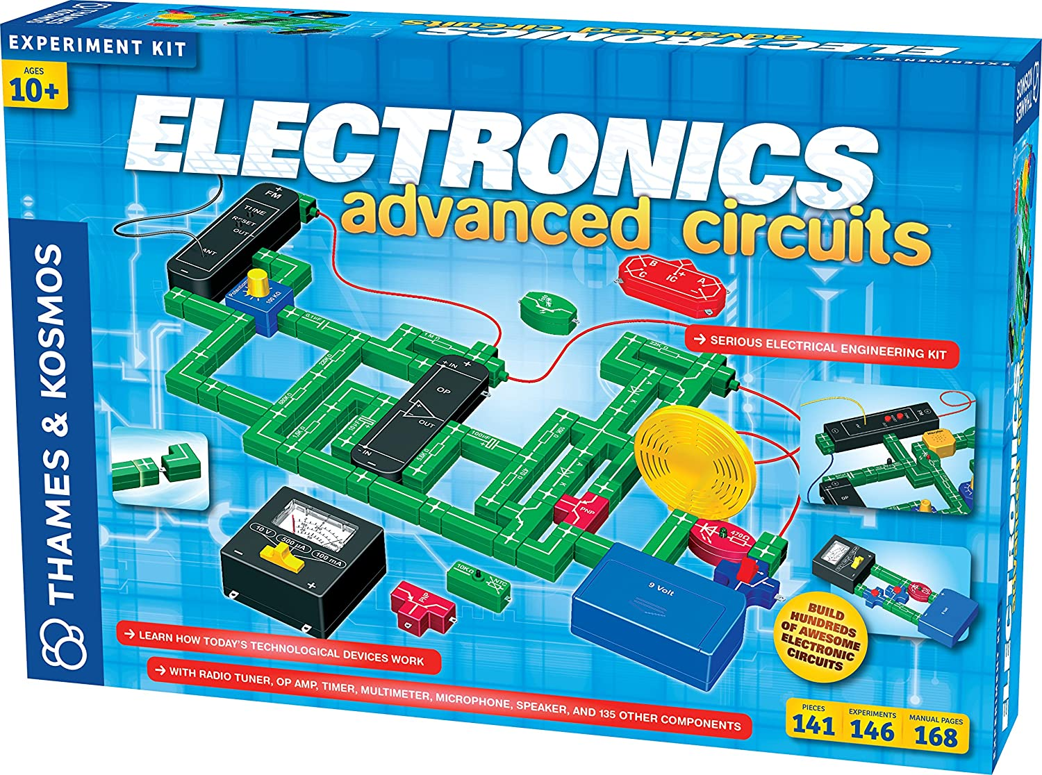 Thames And Kosmos Electronics Advanced Circuit Kit Toys Chargingcurrentlimiter Analogcircuit Basiccircuit Games