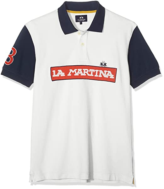 La Martina Man Polo Short Sleeve Piquet Stretch Hombre: Amazon.es ...