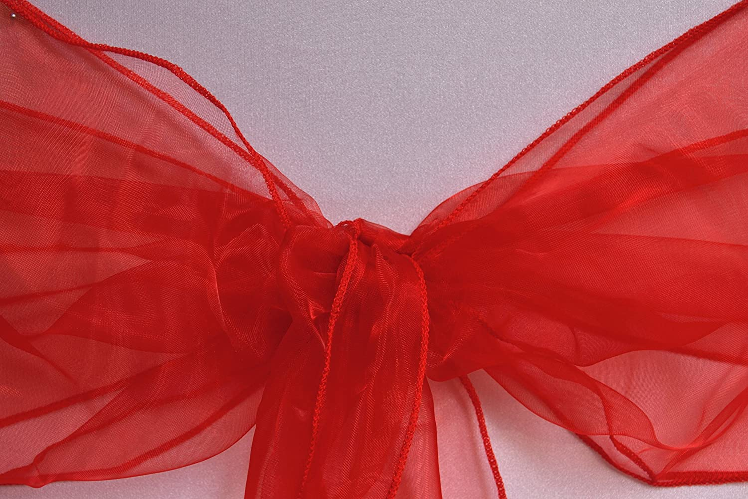 Red UK EVENT DECOR Pack Of 10 Organza Sash Chair Bows Cover for Wedding Reception Anniversary Party Bow Sashes ALL COLOURS AVAILABLE