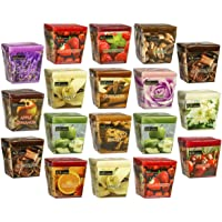 All2shop Scented Votive Candles Set of 18 Assorted Pure Scents for Relaxation & Aromatherapy (18 Assorted Scents, Normal…