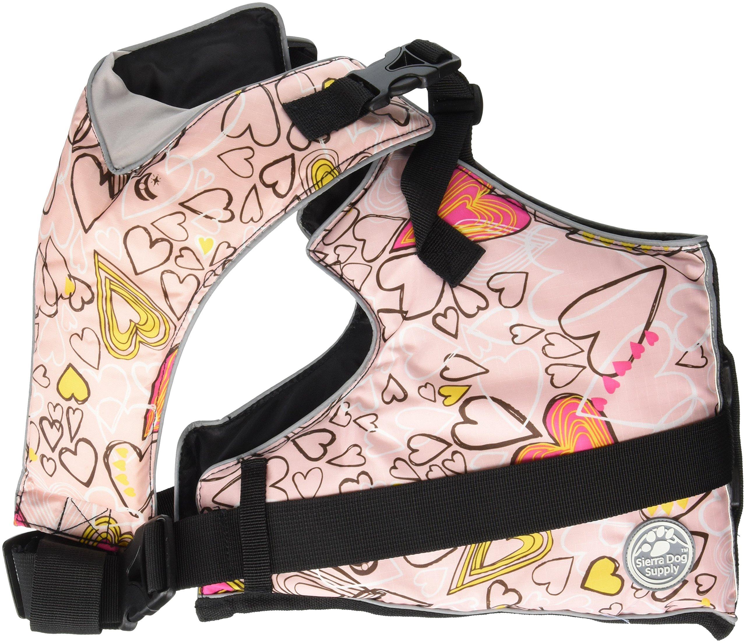 Doggles Medium Swim Vest with Hearts, Pink